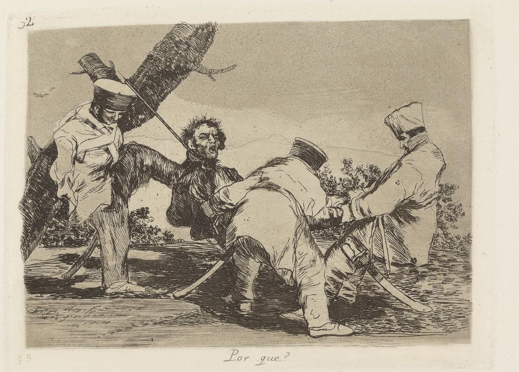 Por qué? (Waarom?), uit de eerste editie van de serie Verschrikkingen van de oorlog, collectie Boymans Van Beuningen