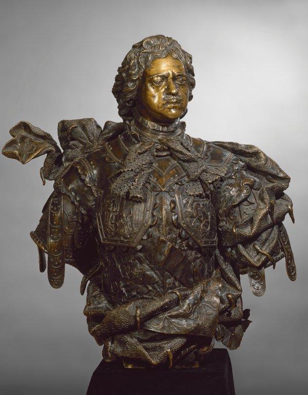 Portretbuste van Peter, Bartolomeo Rastrelli, 1723-29, brons, copyright State Hermitage Museum St. Petersburg