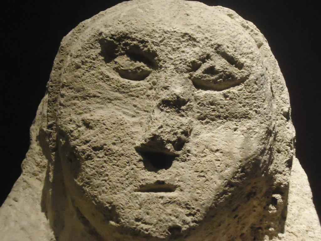 Grafsteen van een vrouw uit de tweede of derde eeuw na Chr. Eigen foto