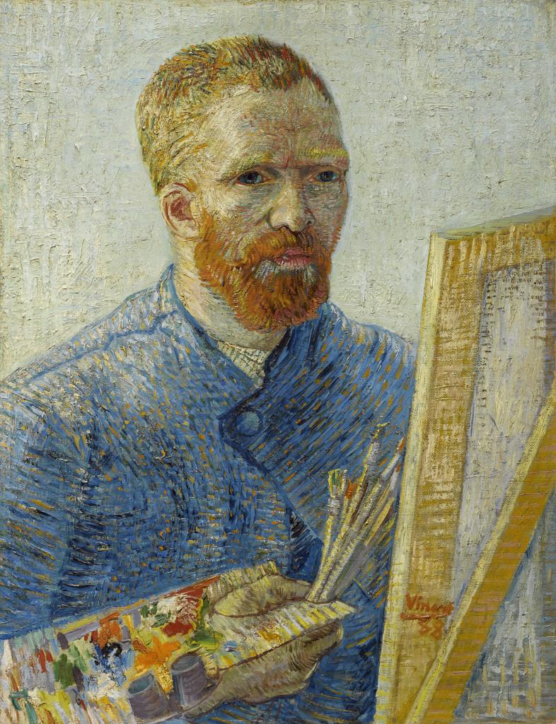Van Gogh, Zelfportret als schilder, foto Van Gogh Museum