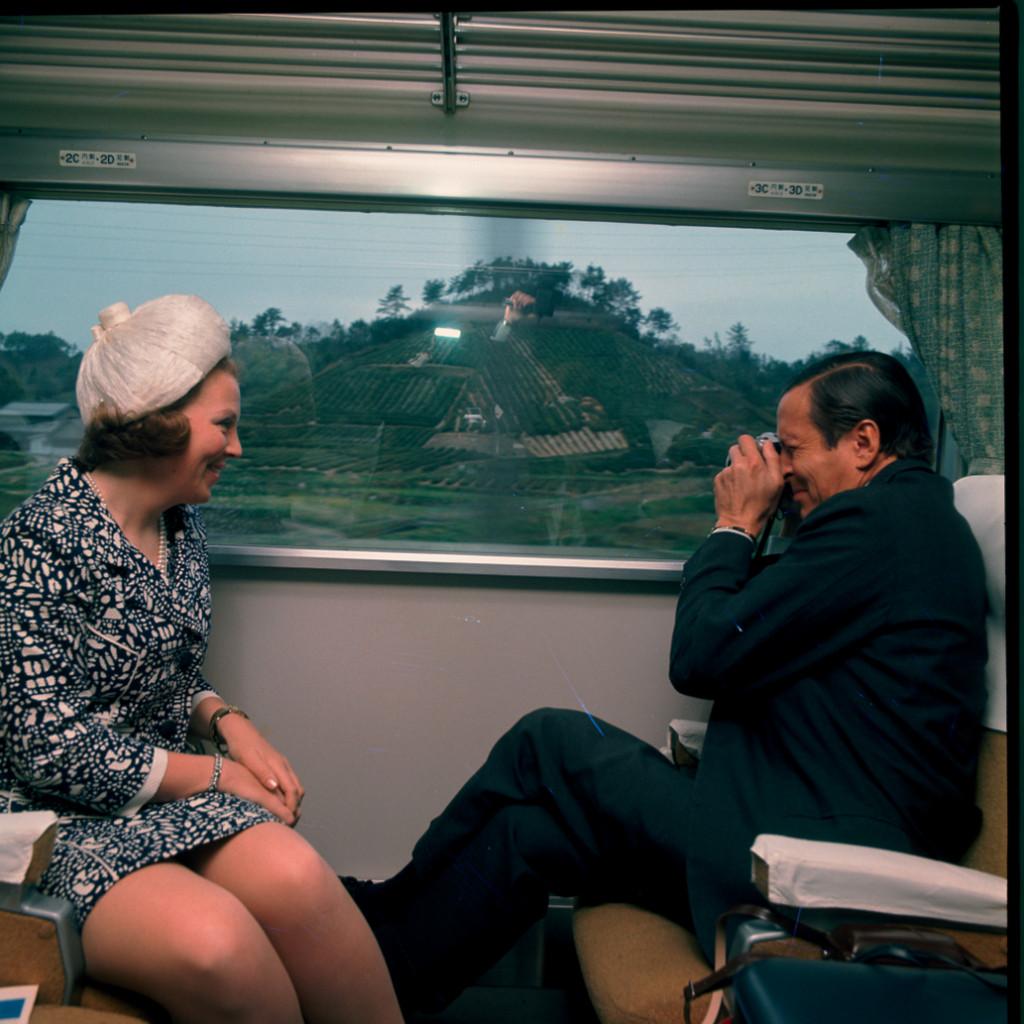Beatrix en Claus in Japan, april 1970, foto ANP