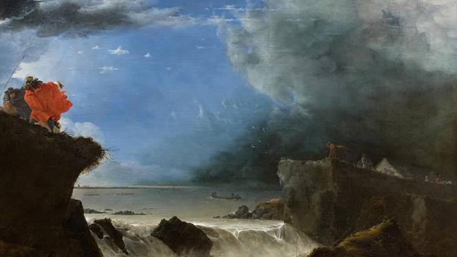 Jan Asselijn, De doorbraak van de Sint Anthonisdijk in Amsterdam, 1651