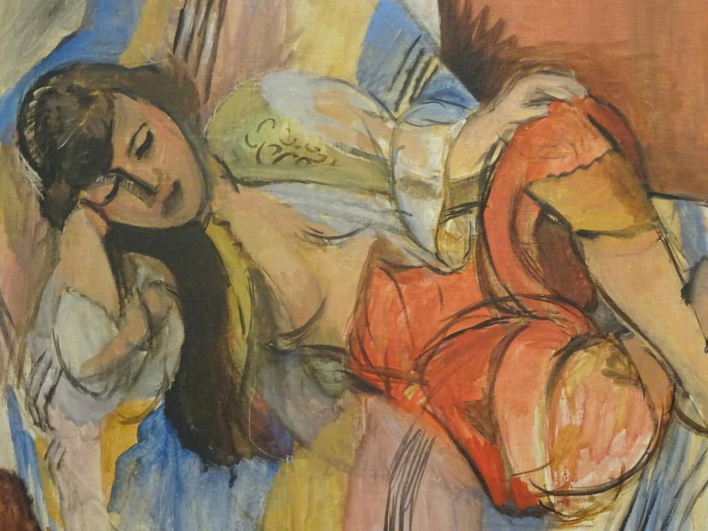 Henri Matisse, Odalisque, 1920-1921, olieverf op doek, collectie Stedelijk Museum, detail, eigen foto
