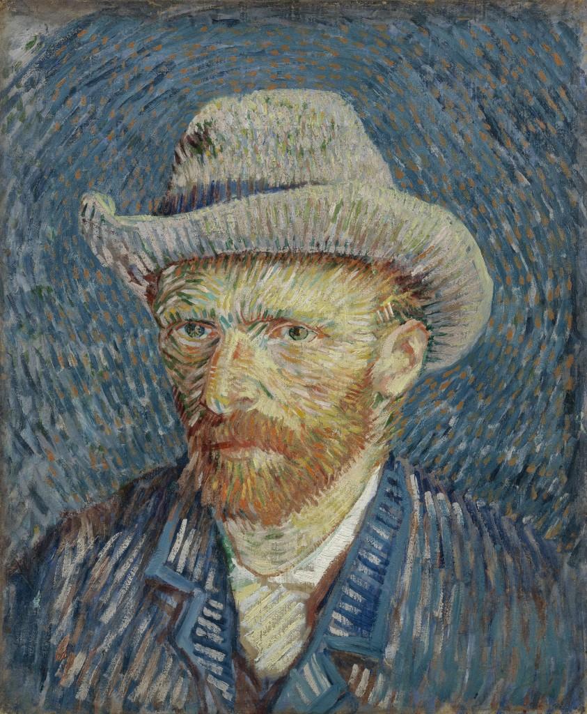 Zelfportret met grijze vilthoed, Vincent van Gogh, 1887, foto Van Gogh Museum