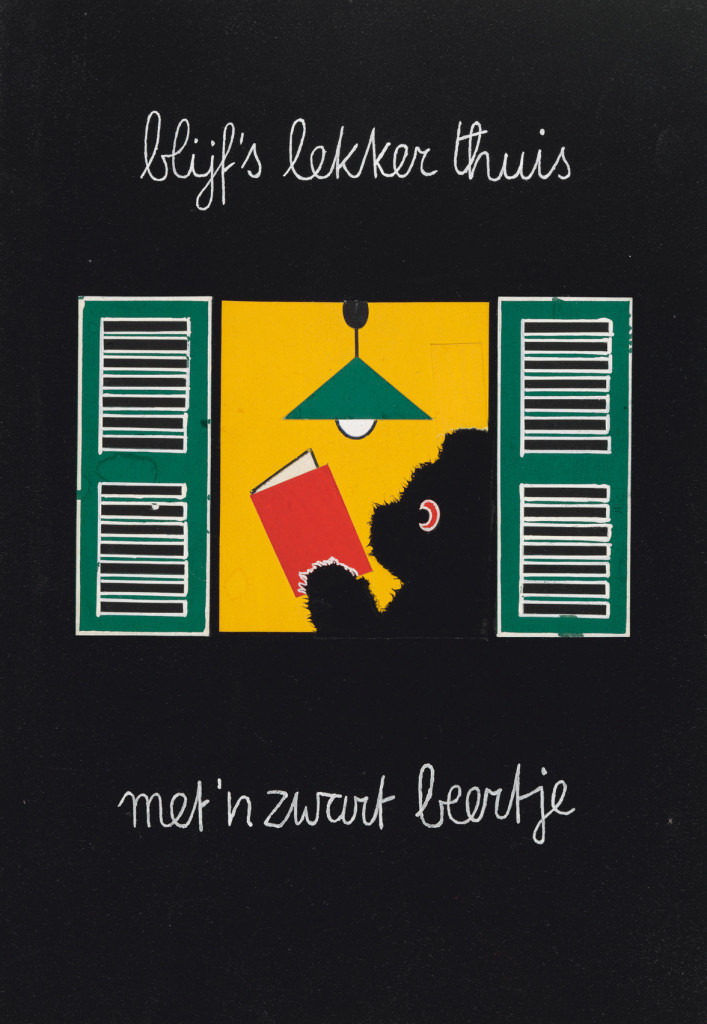 Blijf eens lekker thuis met een Zwart Beertje, Dick Bruna, 1963, copyright Mercis bv