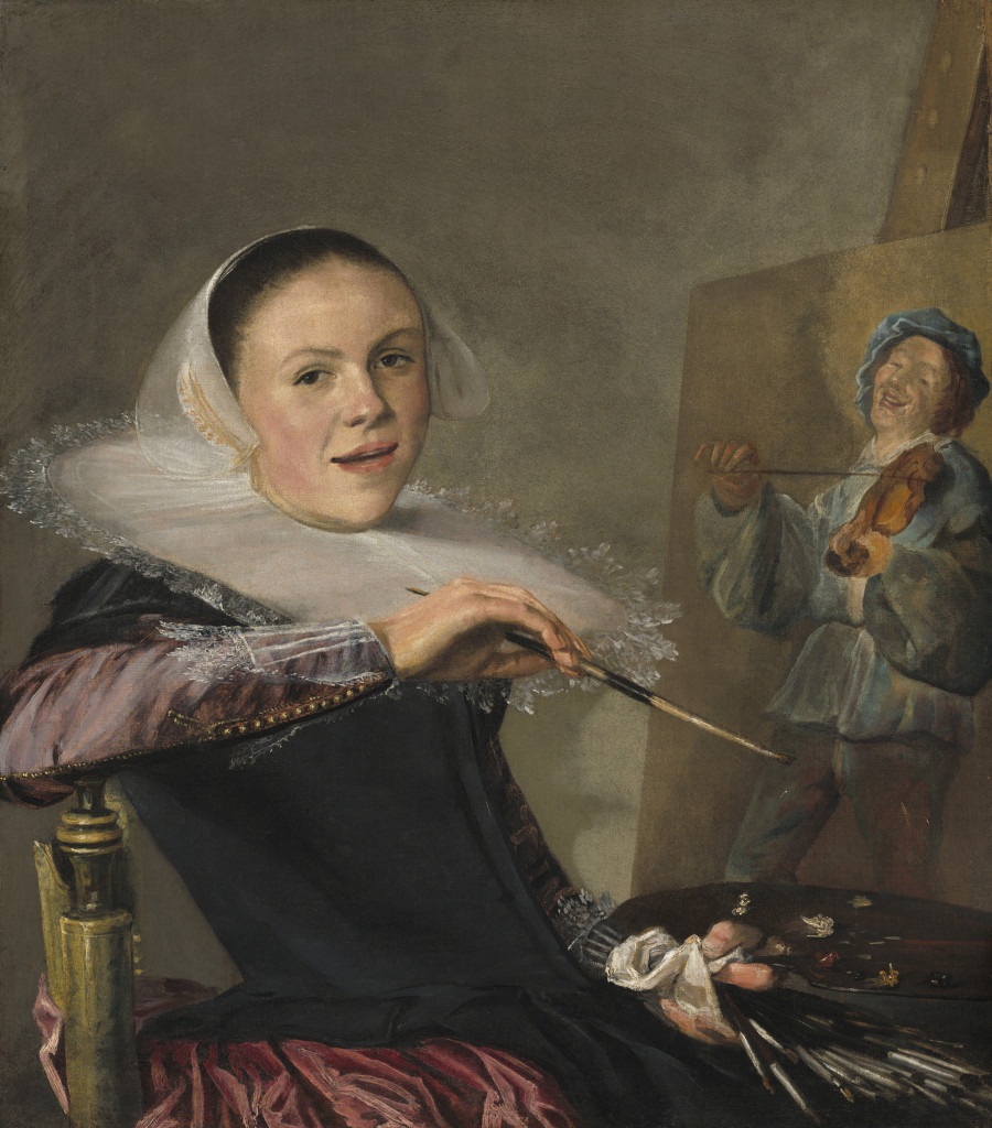 Judith Leyster, Zelfportret achter ezel, ca 1640, National Gallery of Washington