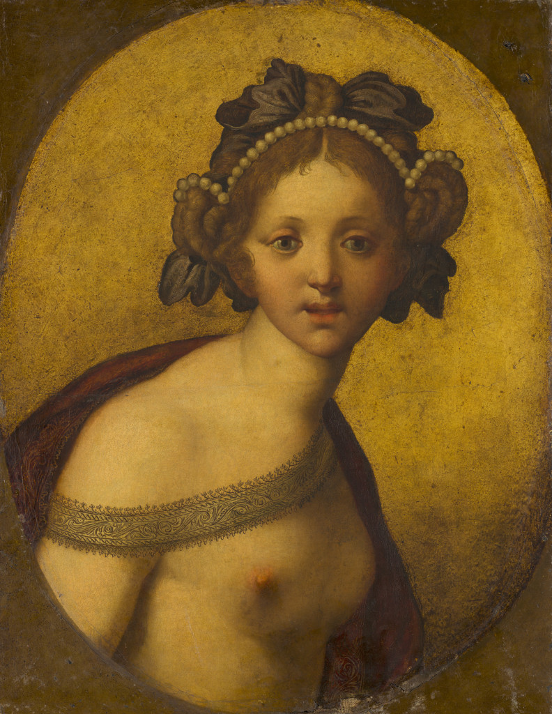 Anoniem (Italië), Vrouwelijke figuur (Een godin?), c. 1500-1550, Mauritshuis, Den Haag. Als Raphaël gekocht door koning Willem I.