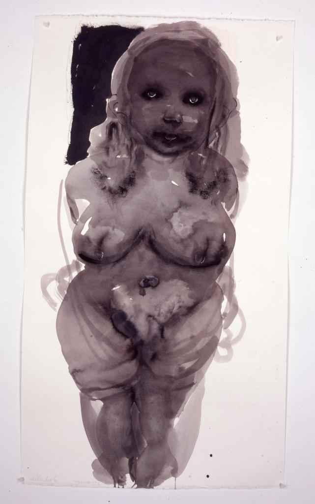 Marlene Dumas, 1953, Willendorf, 1997, foto Museum Arnhem