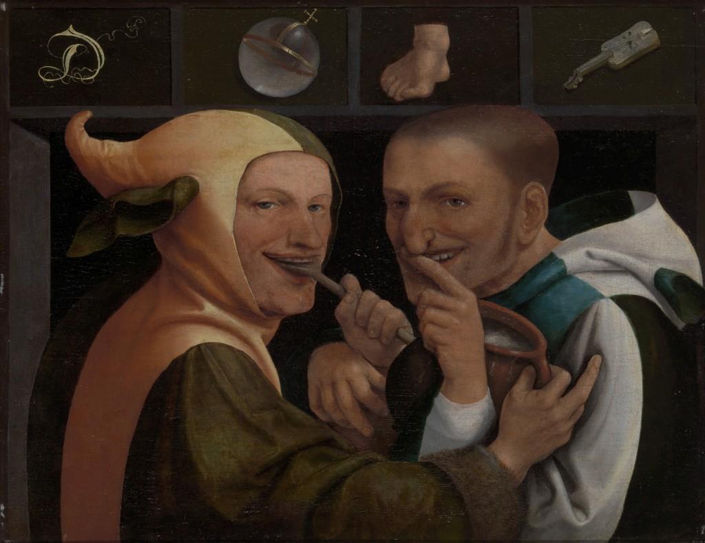 Jan Massys, De wereld voedt veel zotten, circa 1530, olieverf op paneel