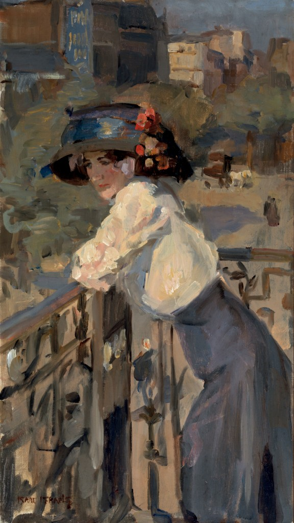 Isaac Israëls (1865-1934), Vrouw op Parijs balkon, collectie Singer Laren foto De Hallen Haarlem