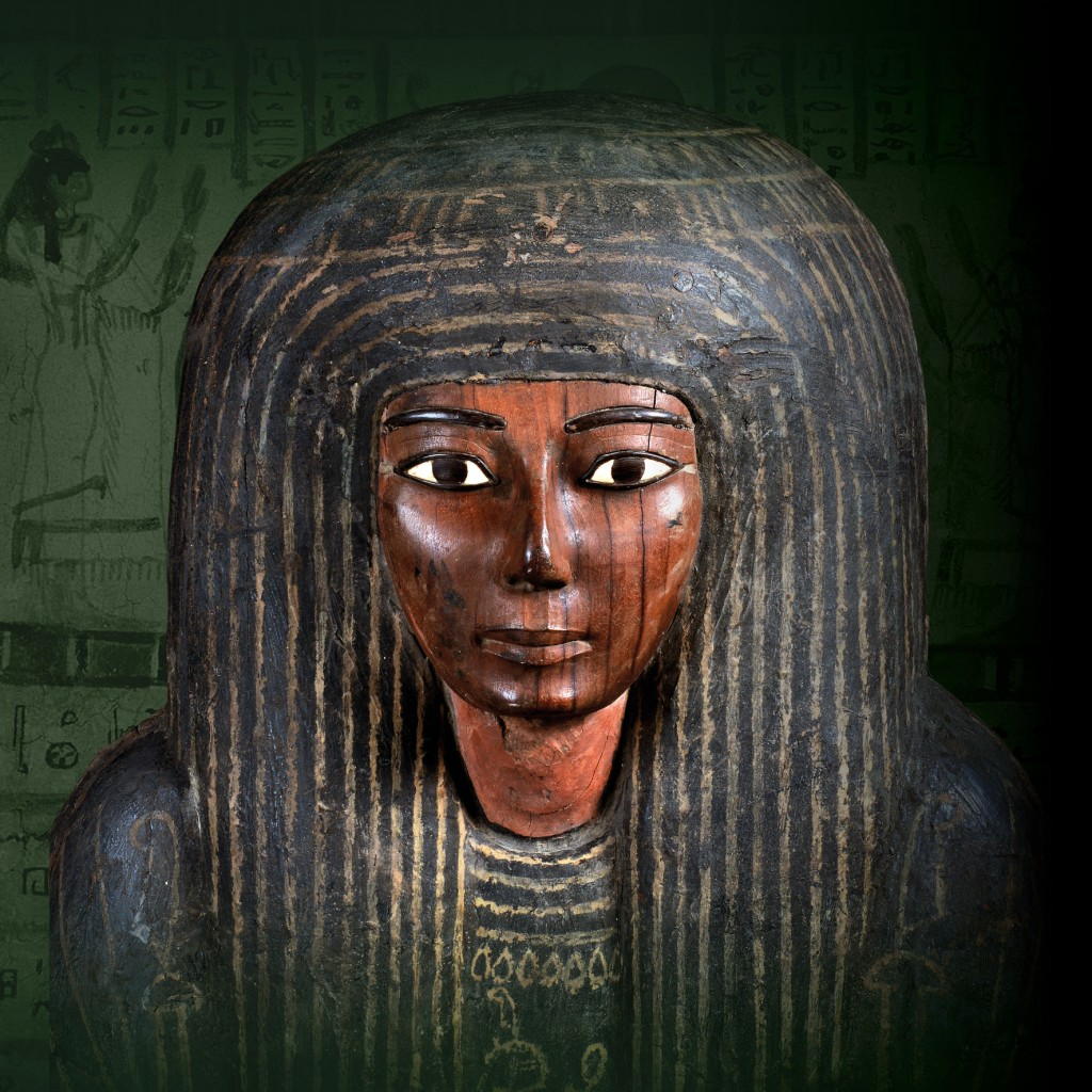 Mummiekist van Panesy, hout, Derde Tussenperiode (22ste dynastie, 943-746 v. Chr.), Thebe, 38 x 54 x 200 cm. Collectie en copyright foto: Rijksmuseum van Oudheden