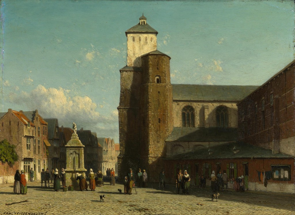 Jan Weissenbruch, De kerk van Saint-Denis te Luik, ca. 1860, olieverf op paneel, Royal Collection, Osborne House, Osborne, Royal Collection Trust, c Her Majesty Queen Elizabeth II, 2016