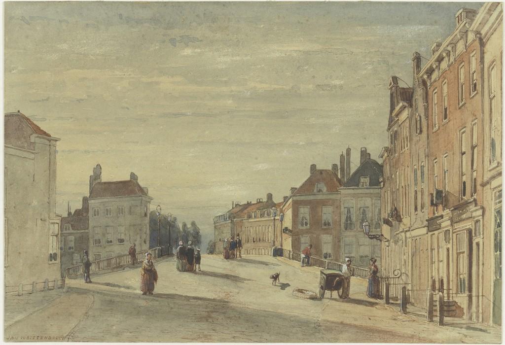 Jan Weissenbruch, De Wagenbrug in Den Haag, aquarel, ongedateerd, foto Teylers Museum