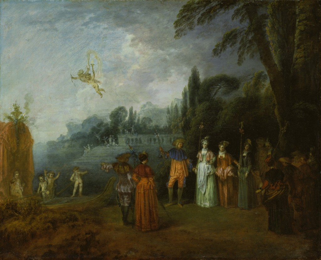 Antoine Watteau, Inscheping voor Cythera, 1709-1712, doek, Städel Museum, Frankfurt am Main