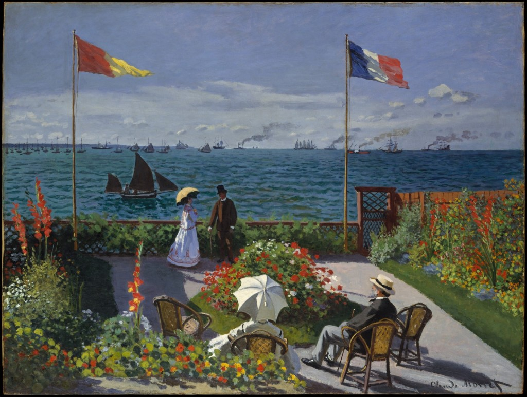Claude Monet, Garden at Sainte-Adresse, 1867, collectie Metropolitan Museum of Art