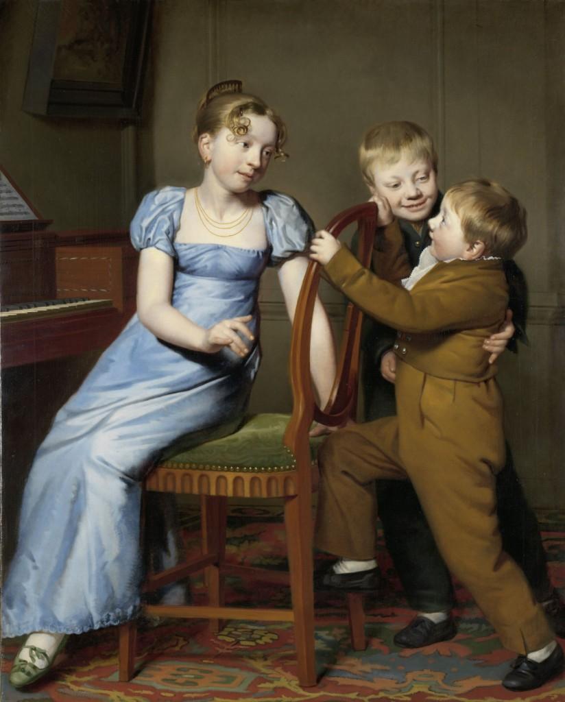 Het gestoorde pianospel, Willem Bartel van der Kooi, 1813, Rijksmuseum, te zien in de Waterloozaal
