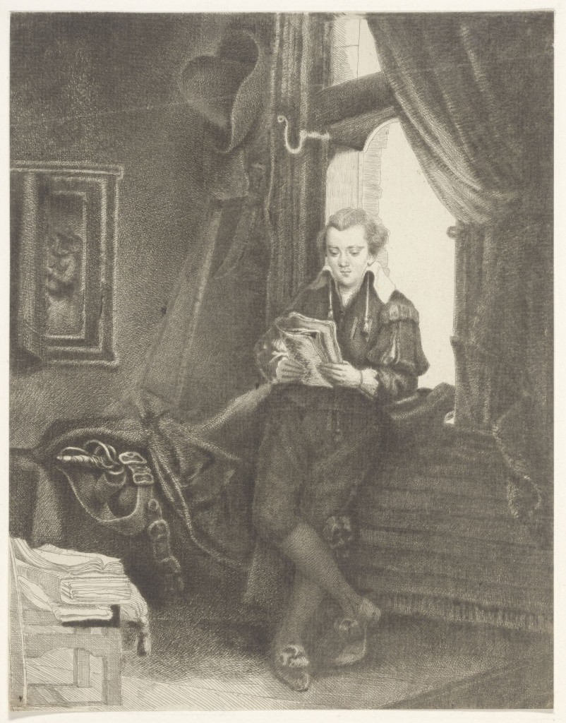 Thomas Worlidge, Edward Astley as Jan Six, 1762, particuliere collectie