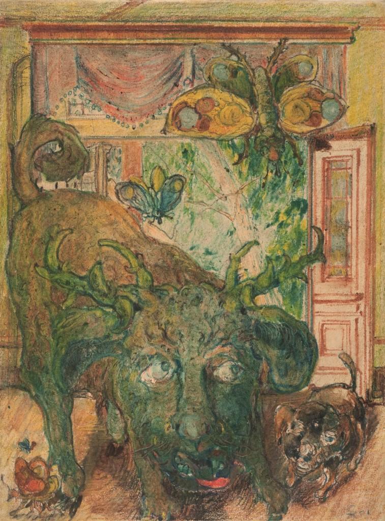 Franz Karl Bühler (pseudoniem Pohl), 'Geval 224 (zonder titel (1909-1916) Foto Outsider Art Museum