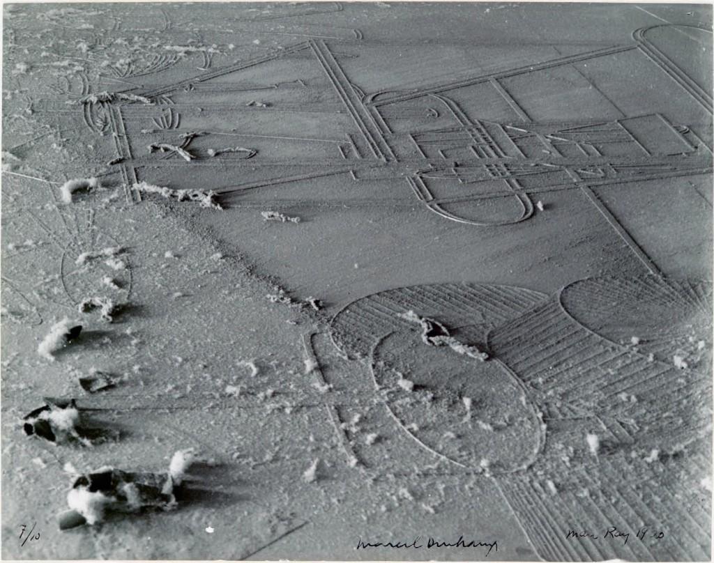 Man Ray/Marcel Duchamp, Élevage de poussièew, 1920, Gelatin silver print - printed c. 1968 c Succession Marcel Duchamp?ADAGP, Paris and DACS, London, 1970, c Man Ray Trust/ADAGP, Paris and DACS, London, 2017