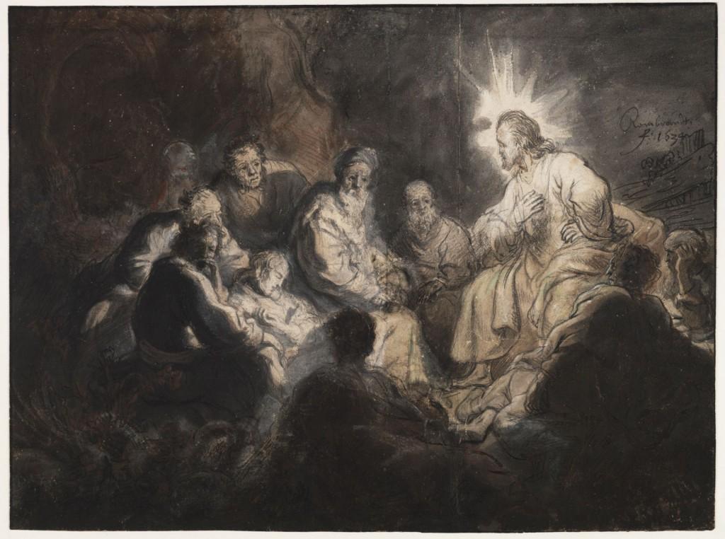 Rembrandt Harmensz van Rijn (1606-1669), Christus en de discipelen in het Hof van Gethsemane, ca. 1634, Teylers Museum, Haarlem