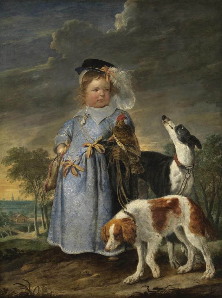 Erasmus Quellinus de Jonge en Jan Fijt, Portret van een jongen als jager, c. 1655, doek,136,2 x 103 cm, Koninklijk Museum voor Schone Kunsten Antwerpen