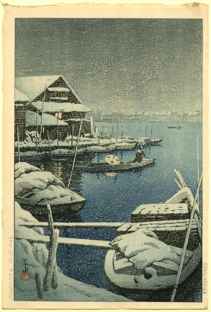 Japanse kleurhoutsnede, gesigneerd 'Hasui', met Kawase zegel, uitgave Watanaba Shozaburo, 1931, Hotei Japanese Prints, PAN