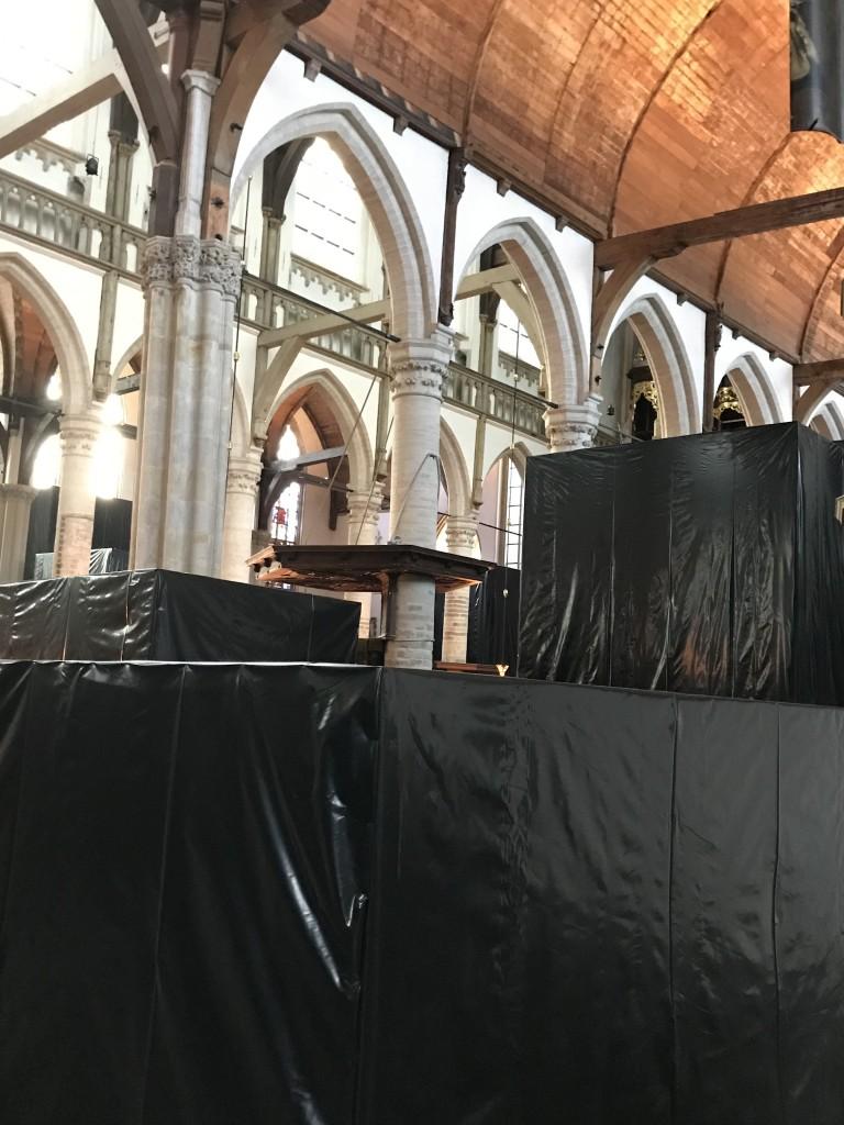 Expositie Christian Boltanski, Oude Kerk, eigen foto