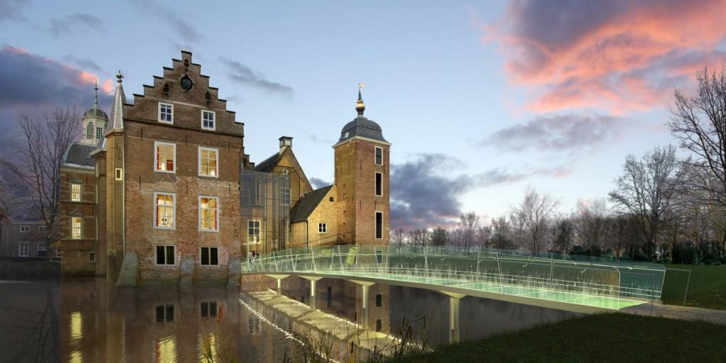 Kasteel Ruurlo, glazen brug, ontwerp Hans van Heeswijk architecten