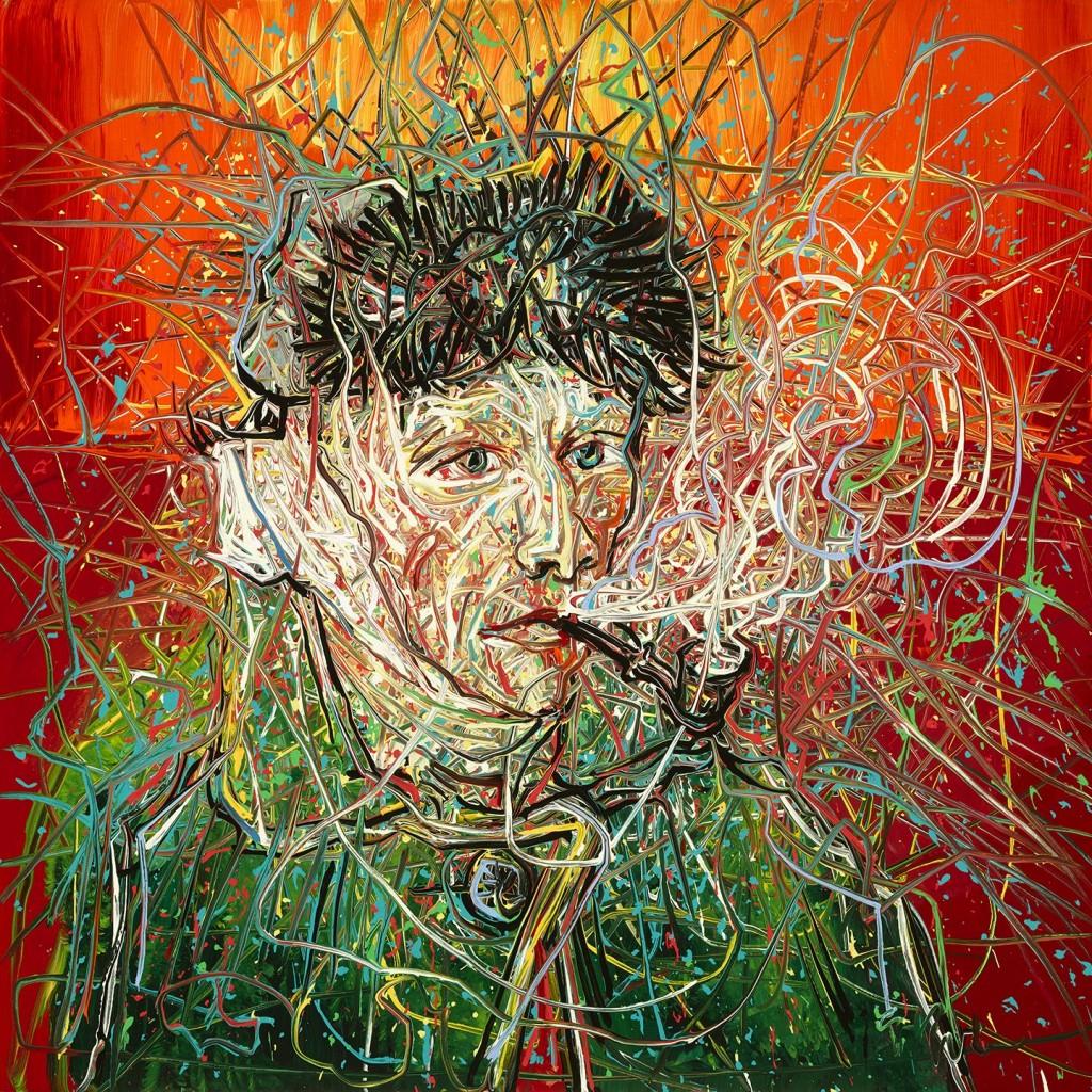 Zeng Fanzhi, Van Gogh III, foto Van Gogh Museum