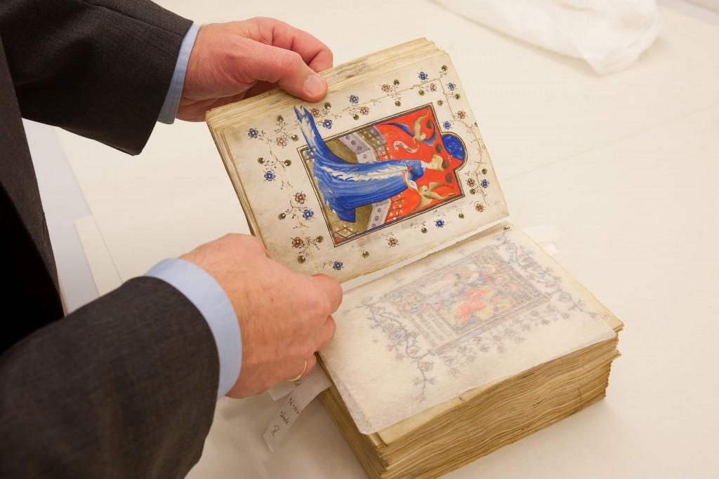 De miniatuur met hertogin Maria van Gelre, Berlijn, Staatsbibliothek zu Berlin, foto Dick van Aalst, Radboud Universiteit