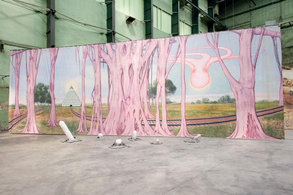 Jim Shaw, D'red Dwarf, B'lack Hole, 2010, Museum Boijmans Van Beuningen, nu te zien op expositie 'Kunst van formaat'