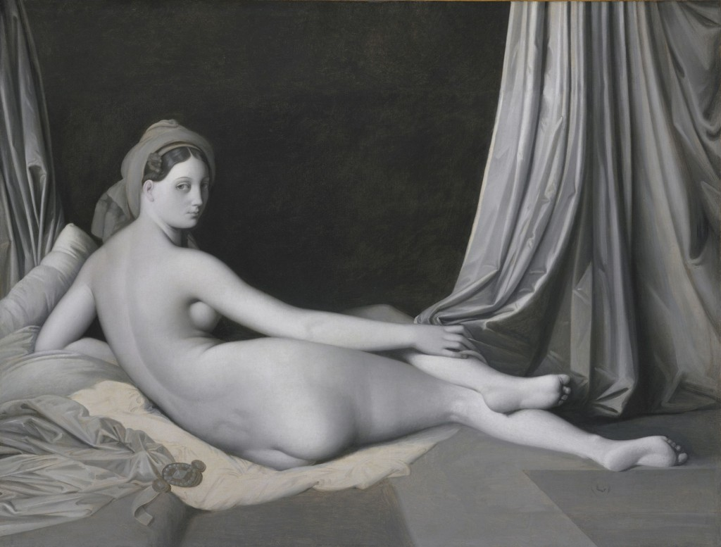 Jean-Auguste-Dominique Ingres und Werkstatt Odalisque in Grisaille, um 1824-1834 Öl auf Leinwand, 83,2 × 109,2 cm The Metropolitan Museum of Art, Catharine Lorillard Wolfe Collection, Wolfe Fund, 1938 (38.65) Foto: © bpk ǀ The Metropolitan Museum of Art