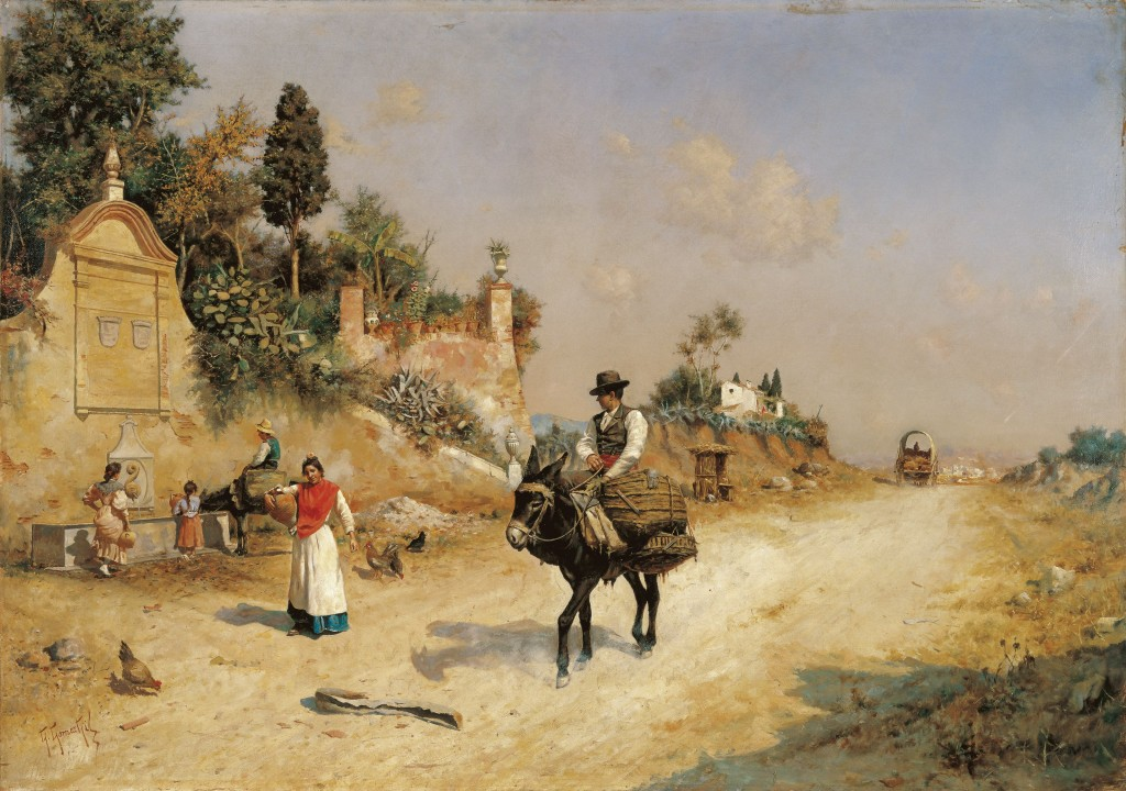 Guillermo Gómoze Gil, The Reding Fountain. By the Fountain, oil on canvas, ca. 1880-1885, Colleción Carmen Thyssen-Bornemisza