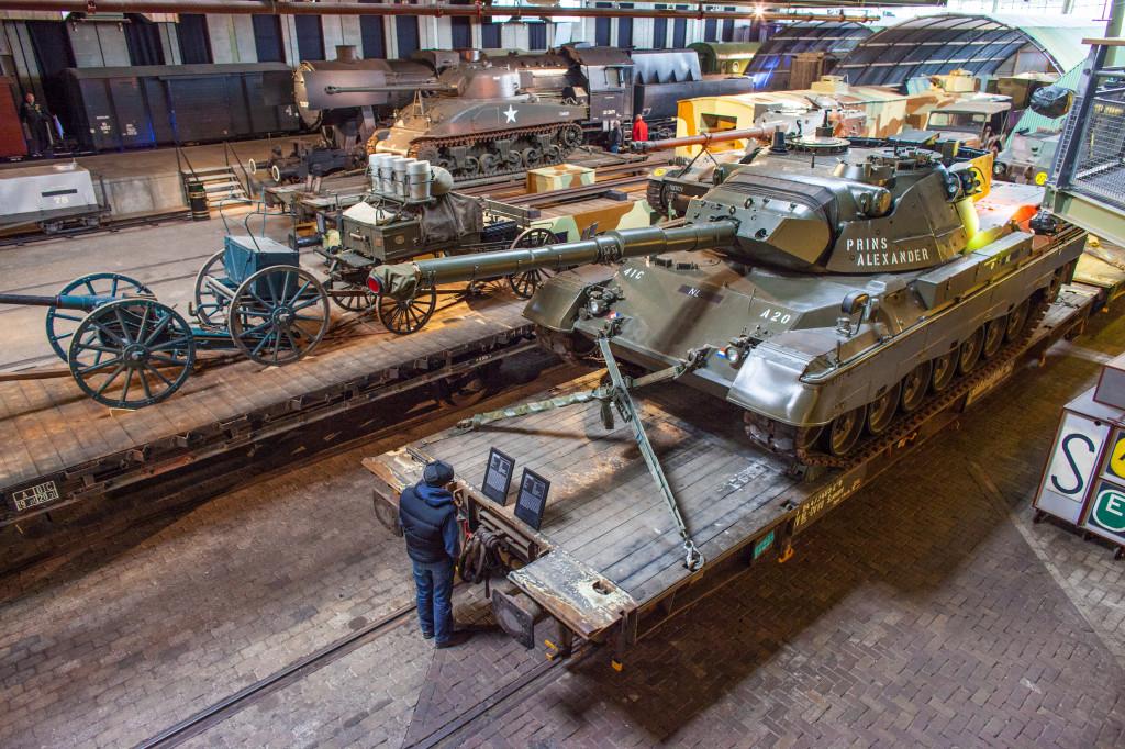 Een overzicht van de opstelling in de grote hal van het Spoorwegmuseum. Foto: Marieke Wijntjes