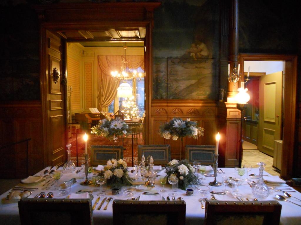 De eettafel van Simon van Gijn. Foto Mascha Joustra.