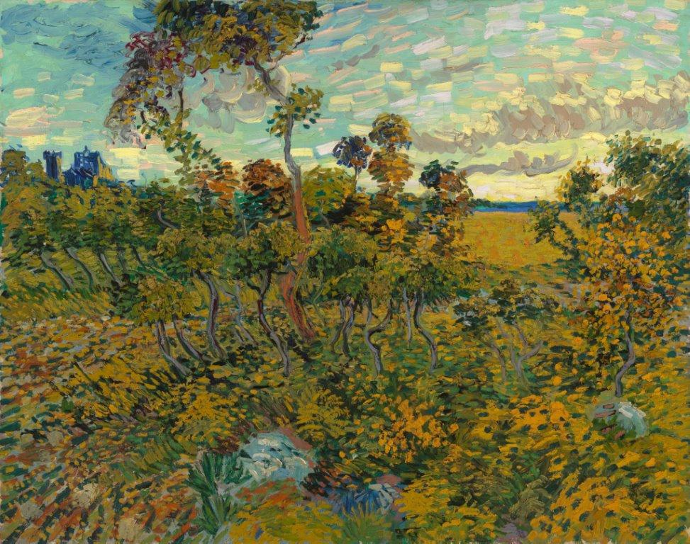 Zonsondergang bij Montmajour, 1888, Vincent van Gogh, particuliere collectie