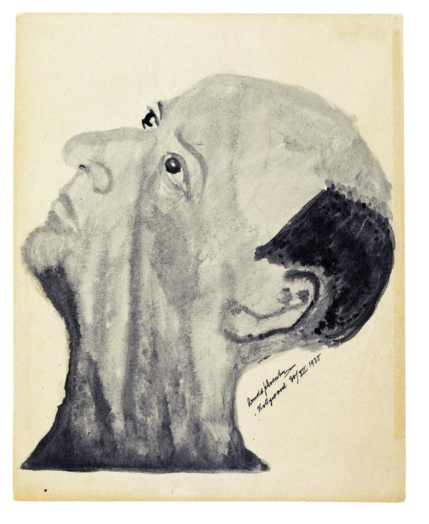Arnold Schönberg, Zelfportret, 1935, Arnold Schönberg Centrum Wenen