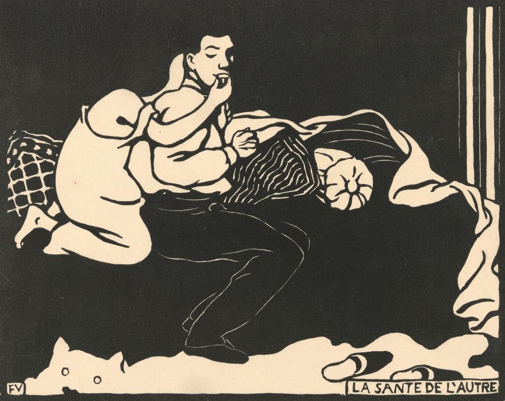 Félix Valloton, De gezondheid van de ander, Intimités IX, 1898, Van Gogh Museum