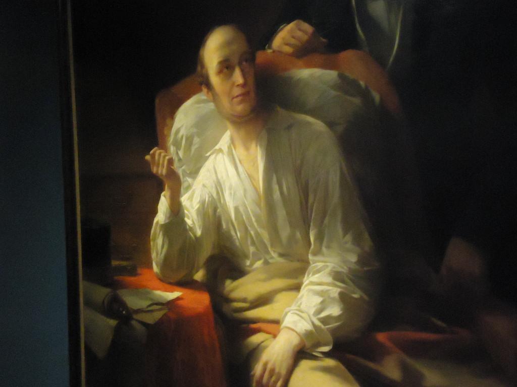 De zieke Willem II een paar dagen voor zijn dood op een schilderij van Nicaise de Keyser uit 1849. Eigen foto