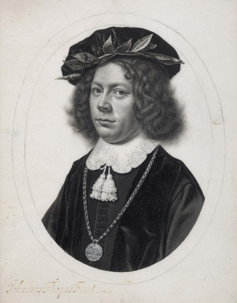 Portret van een jongeman afgestudeerd in Utrecht, Johannes Thopas, 1649 (c) Sothebys Amsterdam. Foto Het Rembrandthuis