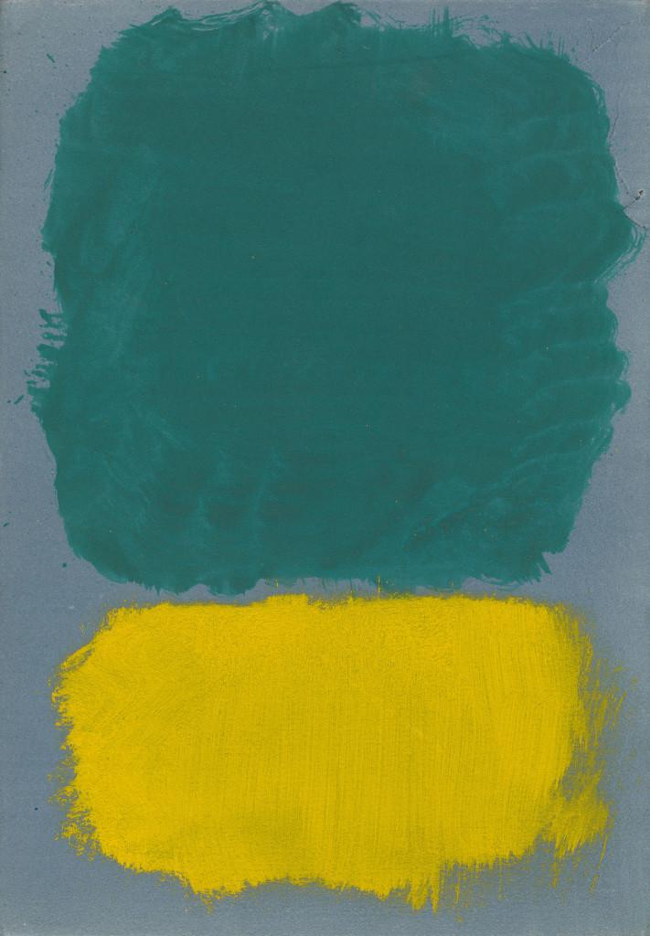 Mark Rothko, Zonder Titel, 1968, acryl op papier op hardboard paneel. foto Gemeentemuseum Den Haag