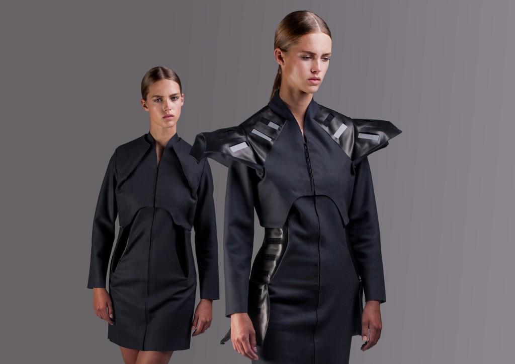 Pauline van Dongen, Wearable Solar-jas, 2013, Model: Julia J., Fresh Model Management. Foto: Mike Nicolaassen