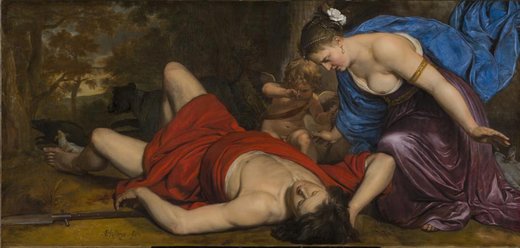 Cornelis Pieterszoon Holsteijn, Venus en Amor bewenen de dode Adonis, ca. 1647, Frans Hals Museum