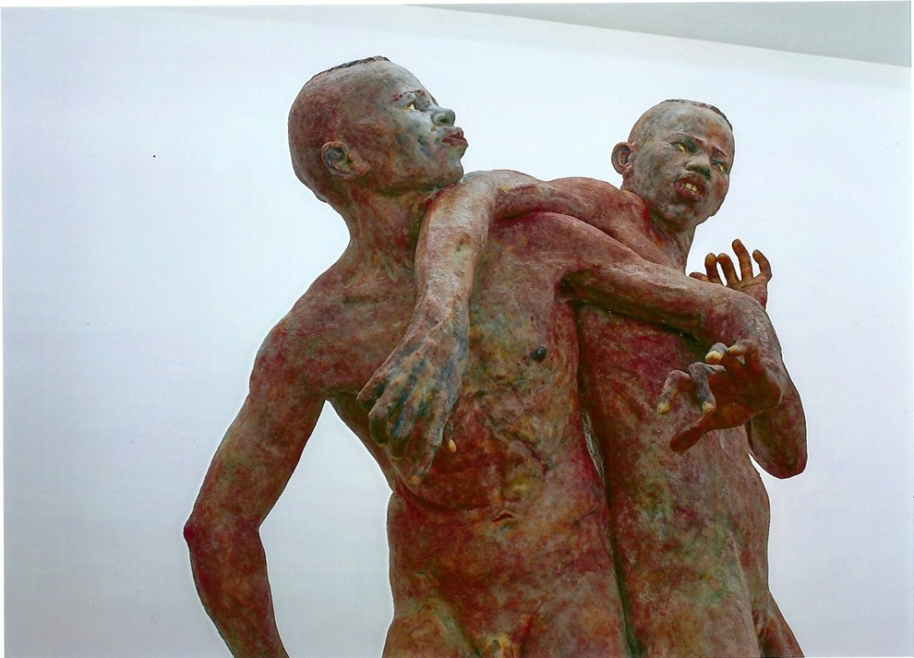 The Twin, Virgilius  Moldovan, silicone, 270 x 140 x 100 cm, 2011, Courtesy ZERP Galerie, vraagprijs 74.000 euro