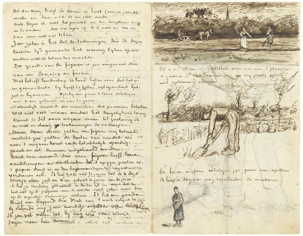 Brief Vincent van Gogh aan Theo, Etten, midden september 1881, Vincent van Gogh Museum (Vincent van Gogh Stichting)