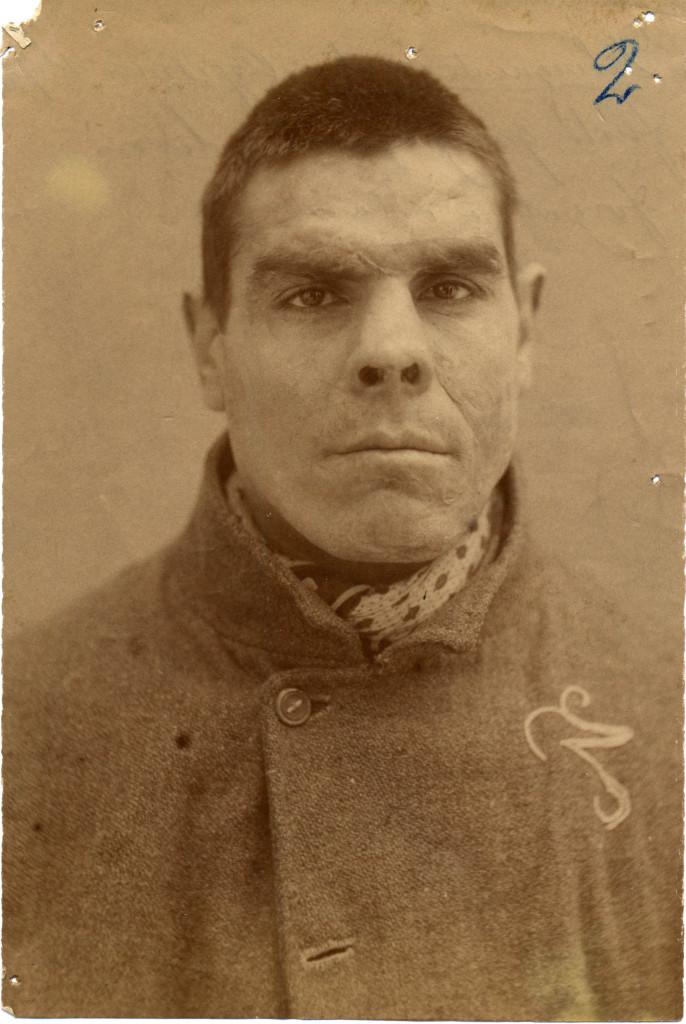 De geboren misdadiger volgens Cesare Lombroso (collectie Lombroso Museum Turijn)