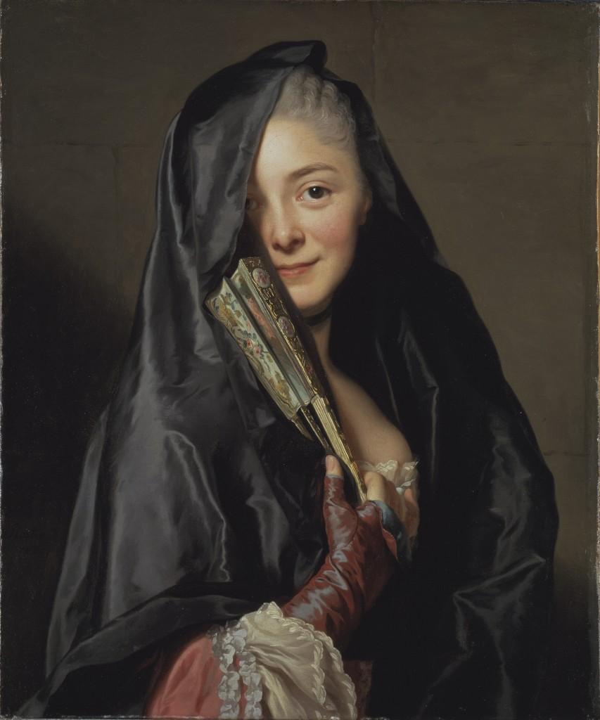Alexander Roslin, Marie-Suzanne Giroust, de vrouw van de kunstenaar, ook bekend als 'Dame met de voile', 1768, Nationaalmuseum Stockholm