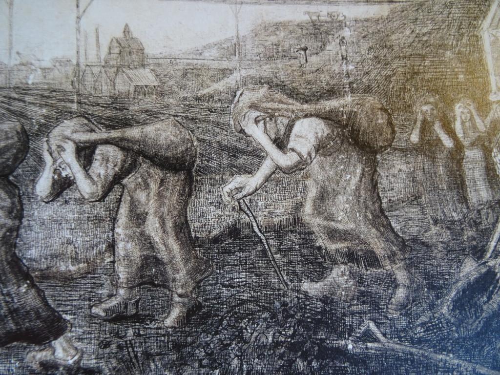 Vincent van Gogh, The Bearers of the Burden (De lastdraagsters), 1881, tekening, Kröller-Müller Museum, Otterlo, detail, eigen foto
