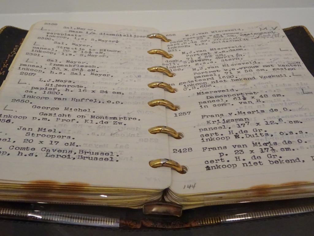 Het zakboekje van Jacques Goudstikker, bruikleen Stadsarchief Amsterdam
