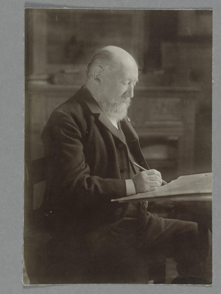 Hendrik Willem Mesdag in zijn atelier, A.J.M. Steinmetz, De Mesdag Collectie Den Haag